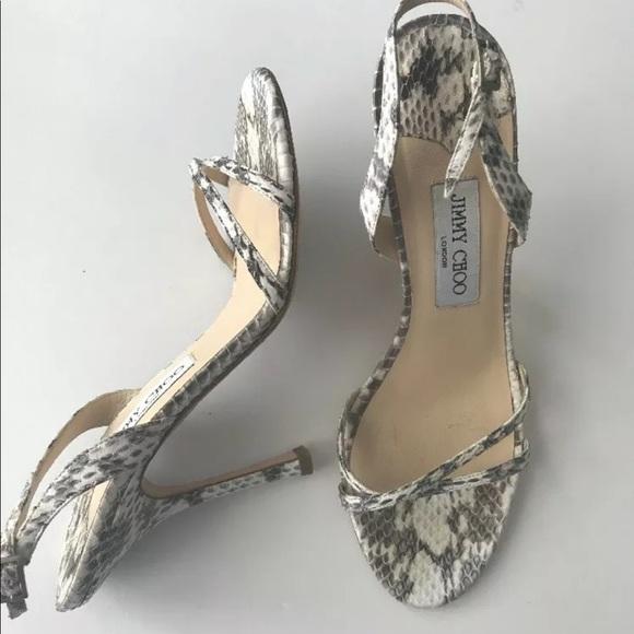 fd5f67ca65 Jimmy Choo Shoes | Snakeskin Heels 39 Sexy Like New 1295 | Poshmark